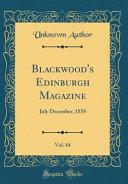 Blackwood S Edinburgh Magazine Vol 84