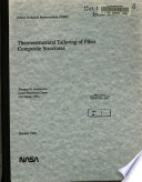 Thermostructural Tailoring Of Fiber Composite Structures