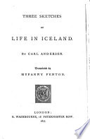 Three Sketches of Life in Iceland Book