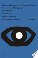 First International Congress on Cataract Surgery Florence  1978