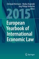 European Yearbook of International Economic Law 2015