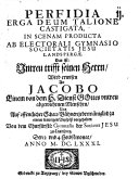 Perfidia Erga Deum Talione Castigata ... Das ist: Untreu trifft seinen Herrn