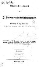 Bücher-Verzeichniß der J. Lindauer'schen Leihbibliothek