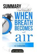 Daniel Paul Kalanith s When Breath Becomes Air Summary Book PDF