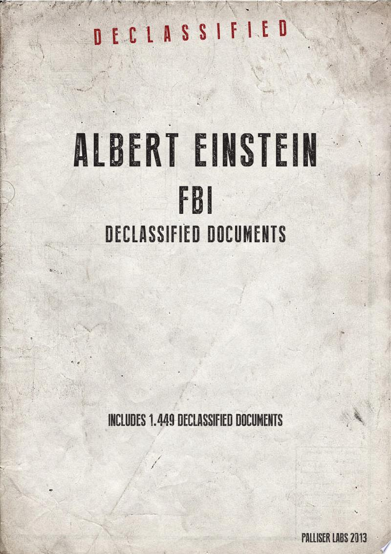 Albert Einstein FBI Declassified Documents banner backdrop