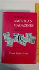 A History Of American Magazines 1885 1905