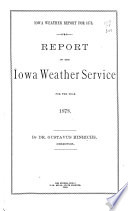 Report of the Iowa Weather Service for the Year