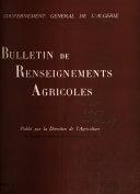 Bulletin de renseignements agricoles