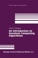 Pdf An Introduction to Quantum Computing Algorithms Telecharger