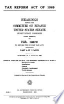 Tax Reform Act Of 1969