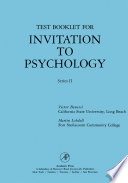 Test Booklet for Invitation to Psychology