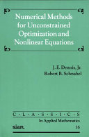 Numerical Methods for Unconstrained Optimization and Nonlinear Equations