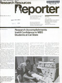 Research Resources Reporter