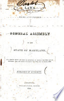 Laws Of The State Of Maryland