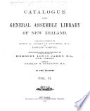 Catalogue of the General Assembly Library of New Zealand