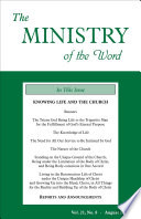 The Ministry Of The Word Vol 21 No 8