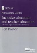 Inclusive Education and Teacher Education