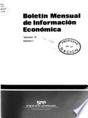 Boletín mensual de información económica