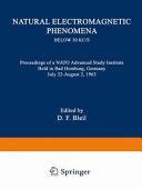 Natural Electromagnetic Phenomena below 30 kc s