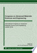 Congress On Advanced Materials Sciences And Engineering Book PDF