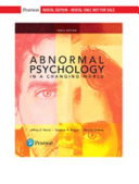 Abnormal Psychology in a Changing World  rental Edition