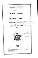Public Papers of Hugh L. Carey, Fifty-first Governor of the State of New York