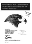 A Population Study of Golden Eagles in the Altamont Pass Wind Resource Area