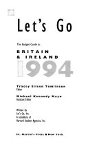 Let s Go  the Budget Guide to Britain and Ireland
