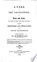 A Call to the Unconverted to Turn and Live  etc