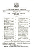 Indian Oil Seeds Journal