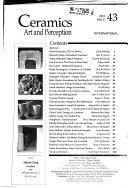 Ceramics  Art and Perception