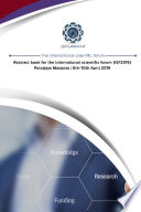 Abstract book for the international scientific forum (ISF2018)