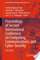Proceedings of Second International Conference on Computing  Communications  and Cyber Security