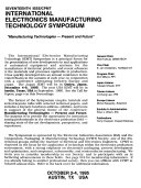 Ieee Cpmt International Electronic Manufacturing Technology Symposium Proceedings