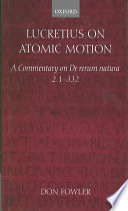 Lucretius on Atomic Motion