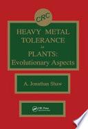 Heavy Metal Tolerance in Plants