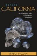 Before California Book
