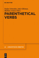 Parenthetical Verbs