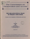 The organizational phase of Project Open Book