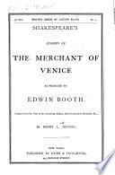 Shakespeare s Comedy of the Merchant of Venice Book