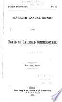 Annual Report of the Board of Railroad Commissioners Book