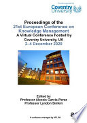 ECKM 2020 21st European Conference on Knowledge Management