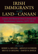 Irish Immigrants in the Land of Canaan Book