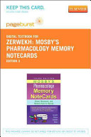Mosby s Pharmacology Memory Notecards  Pageburst  Access Code