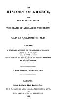 Pdf The History of Greece, from the Earliest State to the Death of Alexander the Great ; And, a Summary Account of the Affairs of Greece, from that Period to the Sacking of Constantinople by the Ottomans