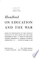 Handbook on Education and the War