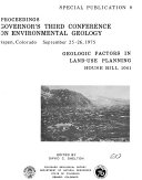 Geologic Factors In Land Use Planning House Bill 1041