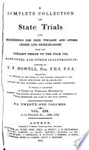 A Complete Collection of State Trials and Proceedings for High Treason and Other Crimes and Misdemeanors from the Earliest Period to the Year 1783 Pdf/ePub eBook
