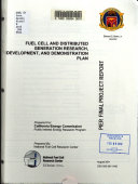 Fuel Cell And Distributed Generation Research Development And Demonstration Plan Book PDF