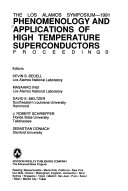 Phenomenology and Applications of High Temperature Superconductors